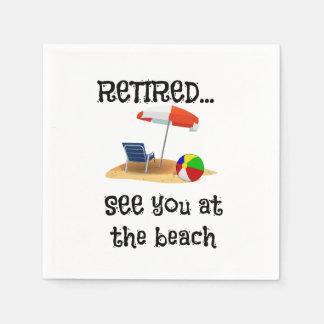 Serviette Jetable Retiré… voyez-vous à la plage