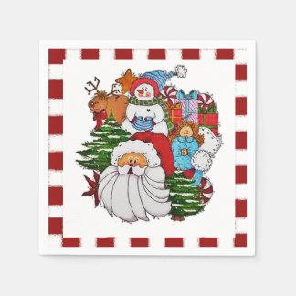Serviette Jetable Sammy les serviettes de Noël de bonhomme de neige