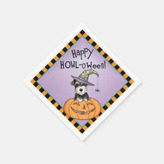 Serviette Jetable Schnauzer miniature de Halloween