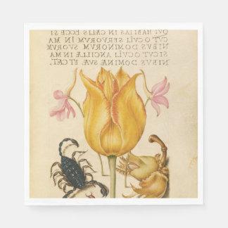 Serviette Jetable Scorpion jaune de tulipe