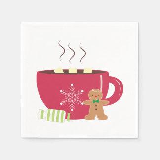 Serviette Jetable Serviette de boisson de Noël