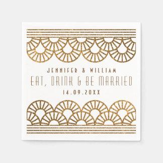 Serviette Jetable Serviette de Cockatil de réception de mariage