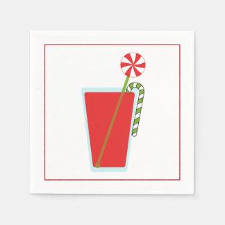 Serviette Jetable Serviette de cocktail de Noël avec l'olive de