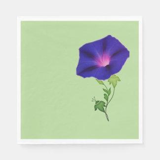Serviette Jetable Serviette de papier bleu-foncé de gloire de matin