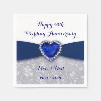 Serviette Jetable Serviette de papier d'anniversaire de mariage de