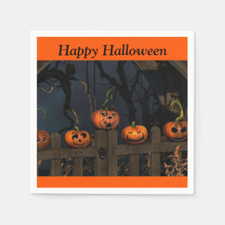 Serviette Jetable Serviette de papier de citrouilles de Halloween de
