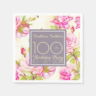 Serviette Jetable Serviette de papier de fête d'anniversaire de