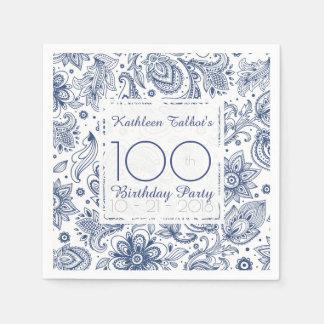 Serviette Jetable Serviette de papier de fête d'anniversaire de cru