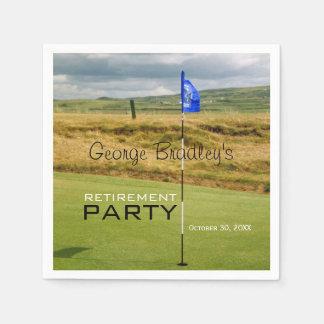 Serviette Jetable Serviette de papier personnalisée par golf de
