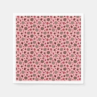 Serviette Jetable Serviette douce rose du motif | de festins de