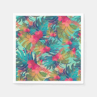 Serviette Jetable Serviette florale tropicale de l'aquarelle |