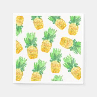 Serviette Jetable Serviette mignonne de partie d'ananas tropical