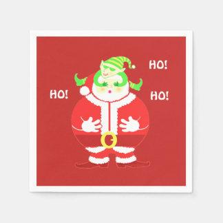 Serviette Jetable Serviettes (cerises) étonnées de Père Noël