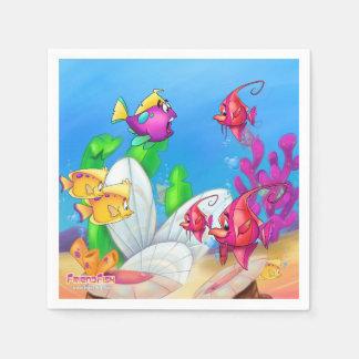 Serviette Jetable Serviettes de bande dessinée de Friendfish