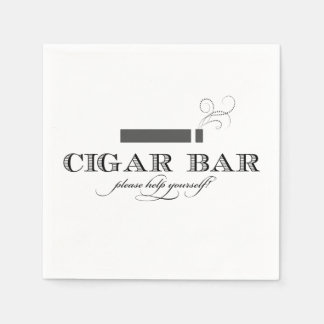 Serviette Jetable Serviettes de cocktail de barre de cigare