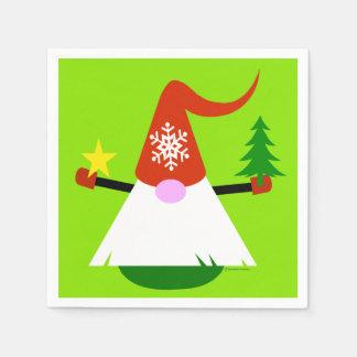 Serviette Jetable Serviettes de fête de vacances de papier de gnome