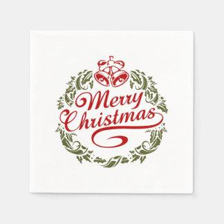Serviette Jetable Serviettes de Joyeux Noël