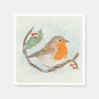 Serviette Jetable Serviettes de Noël - Européen Robin