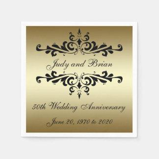 Serviette Jetable Serviettes de papier d'anniversaire de mariage de