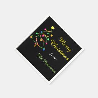 Serviette Jetable Serviettes de papier d'arbre de Noël