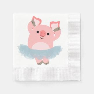 Serviette Jetable Serviettes de papier de bande dessinée de porc