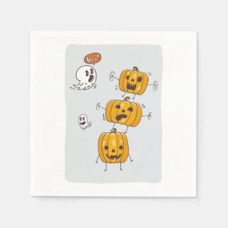 Serviette Jetable Serviettes de papier de citrouilles et de fantômes