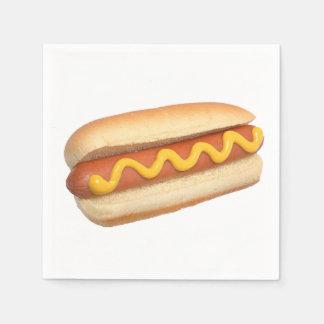"""Serviette Jetable Serviettes de papier de conception """"de hot-dog"""""""