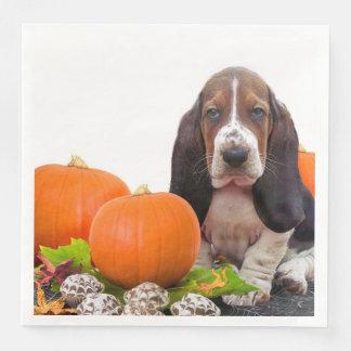 Serviette Jetable Serviettes de papier de Halloween Basset Hound