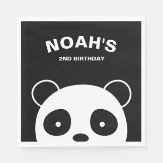 Serviette Jetable Serviettes de papier de panda, fête d'anniversaire