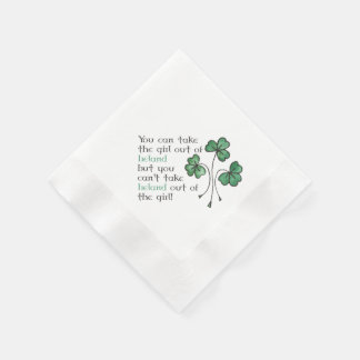 Serviette Jetable Serviettes de papier de shamrocks de citation