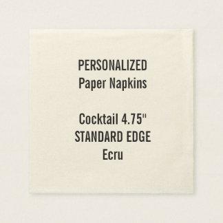 Serviette Jetable Serviettes de papier personnalisées de cocktail