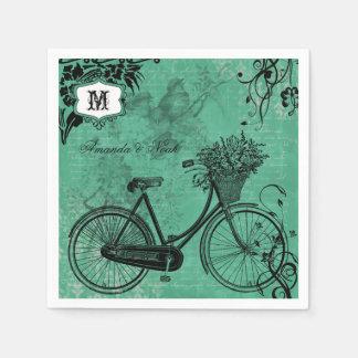 Serviette Jetable Serviettes de papier personnalisées par bicyclette