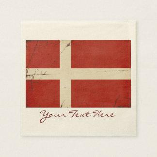 Serviette Jetable Serviettes de partie de drapeau du Danemark