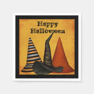 Serviette Jetable Serviettes de partie de Halloween de casquettes de