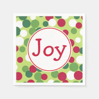 Serviette Jetable Serviettes de vacances de fête de Noël de joie