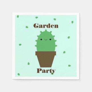 Serviette Jetable Serviettes mignonnes de plante de kawaii de cactus