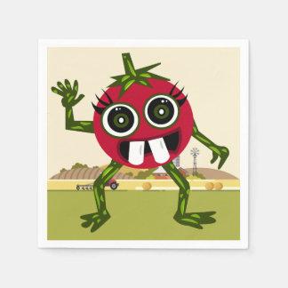 Serviette Jetable Serviettes mignonnes de tomate