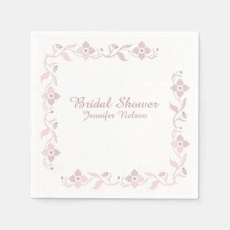 Serviette Jetable Serviettes nuptiales florales de douche de rose