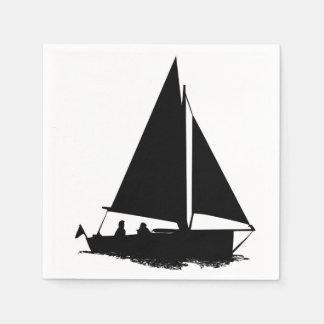 Serviette Jetable Silhouette de voilier