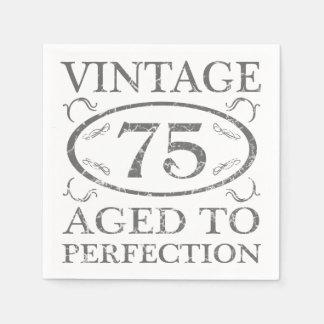 Serviette Jetable soixante-quinzième Cru d'anniversaire