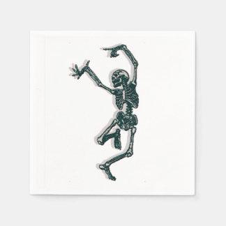 Serviette Jetable Squelette de danse
