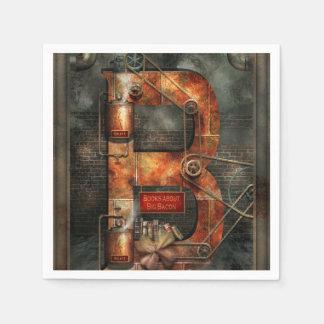 Serviette Jetable Steampunk - alphabet - B est pour des ceintures