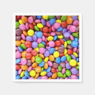 Serviette Jetable Sucrerie colorée