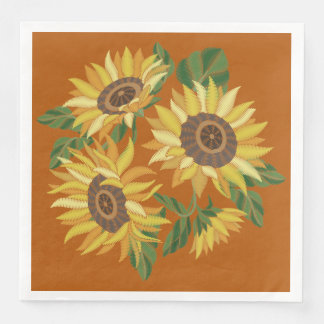 Serviette Jetable Tournesols