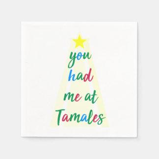 Serviette Jetable Vous m'avez eu à la serviette hispanique de Noël