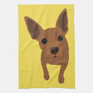 Serviette minimum de portrait de chien de Pin de