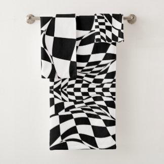 Serviette réglée - drapeau Checkered modifié