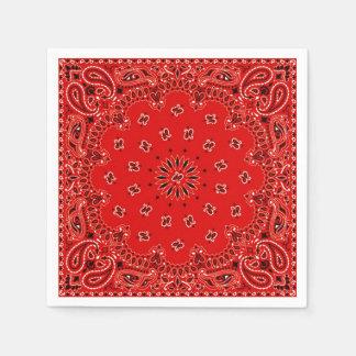 Serviette rouge de pique-nique de BBQ d'écharpe de Serviettes En Papier