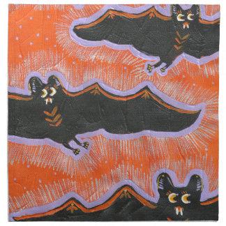 Serviette timbrée de tissu de Halloween de vol