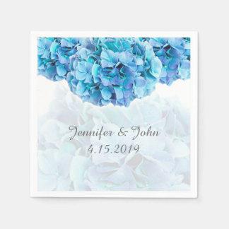 Serviettes bleues de collection de mariage serviettes en papier
